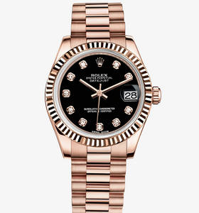 Replica Rolex Datejust Lady 31 Watch: 18 ct Everose gold - M178275F - 0020