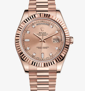 Replica Rolex Day - Date II Horloge : 18 ct Everose gold - M218235 - 0008