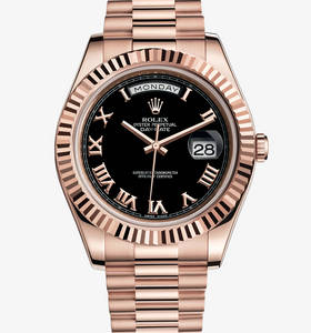 Replica Rolex Day - Date II Horloge : 18 ct Everose gold - M218235 - 0034