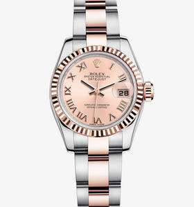 Replica Rolex Lady - Datejust horloge : Everose Rolesor - combinatie van 904L staal en 18 ct Everose gold - M179171 - 0068